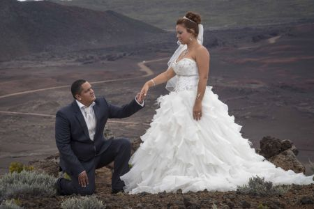 Trash the dress au volcan